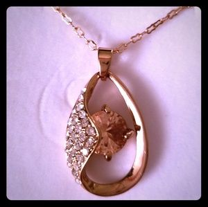 NWOT. Champagne and CZ necklace